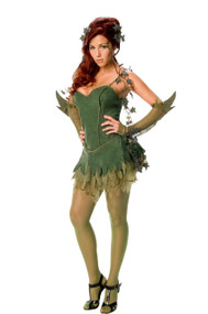 Ladies Poison Ivy Fancy Dress Costume