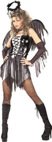Ladies Fallen Angel Fancy Dress Costume 2