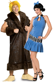 Couples Betty & Barney Rubble Fancy Dress Costumes