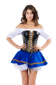 Ladies Beer Maiden Fancy Dress Costume