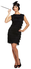 Ladies 1920s Flapper Costume Fancy Dress Costume