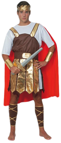 Mens Roman Soldier Fancy Dress Costume