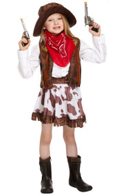 Girls Cowgirl Fancy Dress Costume