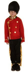 Boys Busby Guard Fancy Dress Costume 2