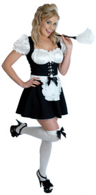 Ladies Cheeky Fraulein French Maid Fancy Dress Costume