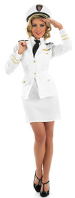 Ladies 40s Naval Officer Fancy Dress Costume