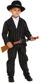 Boys 1920s Gangster Fancy Dress Costume