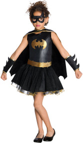 Girls Batgirl Tutu Fancy Dress Costume