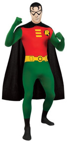 Mens Robin 2nd Skin Fancy Dress Costume