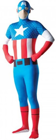 Mens Captain America 2nd Skin Fancy Dress Costume