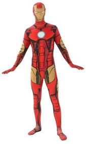 Mens Iron Man 2nd Skin Fancy Dress Costume