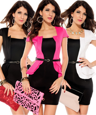 Ladies Mini Peplum Dress
