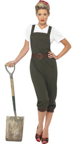Ladies Land Girl Fancy Dress Costume