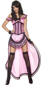 Ladies Pink Brothel Babe Fancy Dress Costume