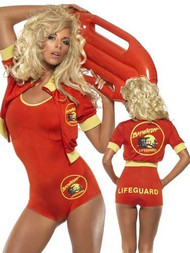 Ladies Baywatch Fancy Dress Costume