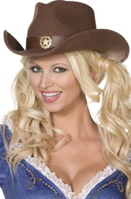 Ladies Cowboy Fancy Dress Hat