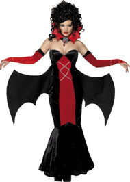 Ladies Gothic Vampire Fancy Dress Costume