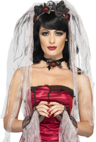 Ladies Gothic Bride Fancy Dress Kit