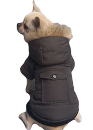 Dog Brown Padded Winter Coat