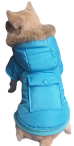 Dog Blue Padded Winter Coat