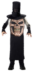 Boys Evil Skull Mad Hat Fancy Dress