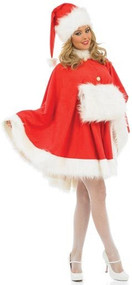 Ladies 3 Piece Christmas Santa Cape Set