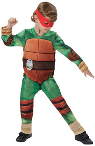 Boys Deluxe Teenage Mutant Ninja Turtles Fancy Dress Costume