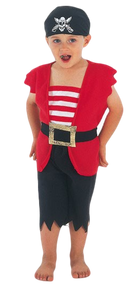 Boys Pirate Fancy Dress Costume