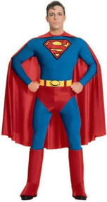 Mens Classic Superman Fancy Dress Costume