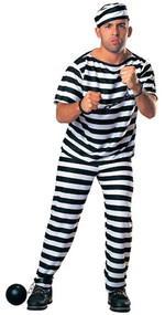 Mens Prisoner Fancy Dress Costume 2