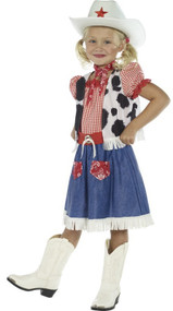 Girls Cowgirl Sweetie Fancy Dress Costume