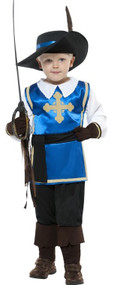 Boys Musketeer Fancy Dress Costume