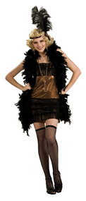 Ladies Copper Flapper Fancy Dress Costume