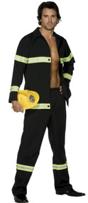 Mens Fireman Fancy Dress Costume