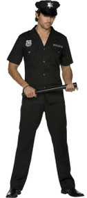 Mens Fever Policeman Fancy Dress Costume