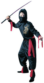 Boys Black Ninja Fancy Dress Costume