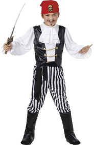Boys Jolly Roger Pirate Fancy Dress Costume