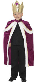 Boys King Fancy Dress Costume