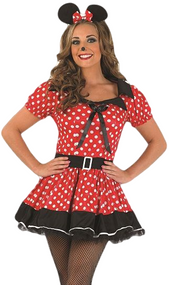 Ladies Red Missy Mouse Fancy Dress Costume