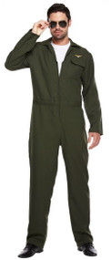 Mens Aviator Fancy Dress Costume