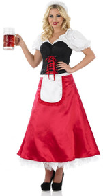 Ladies Bavarian Girl Fancy Dress Costume