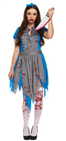 Ladies Horror Alice in Wonderland Fancy Dress Costume