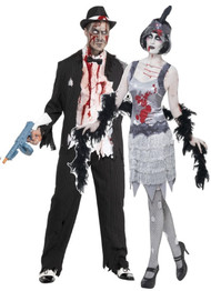 Couples Zombie 1920s Fancy Dress Costumes