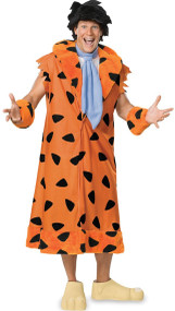 Mens Deluxe Fred Flintstone Fancy Dress Costume