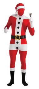 Mens Santa Claus 2nd Skin Fancy Dress Costume