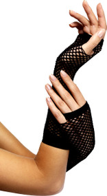Ladies Black Fishnet Gloves