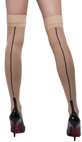 Ladies Nude Seamed Stockings