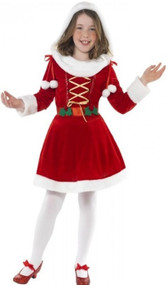 Girls Holly Claus Fancy Dress Costume