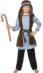 Boys Shepherd & Staff Fancy Dress Costume