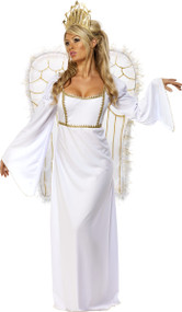 Ladies Angel & Wings Fancy Dress Costume
